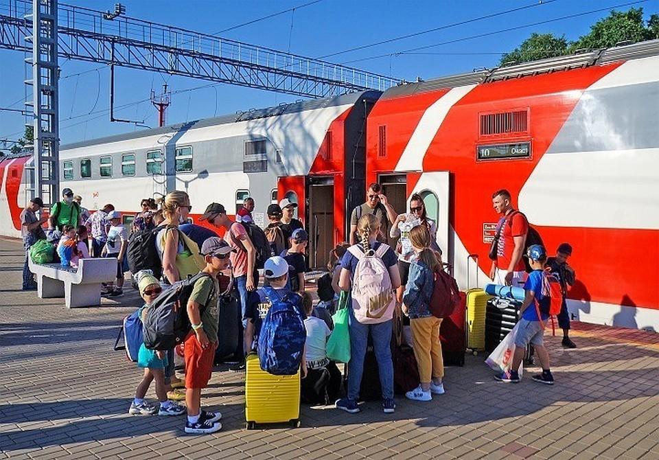 Поезда прибывают каждые полчаса