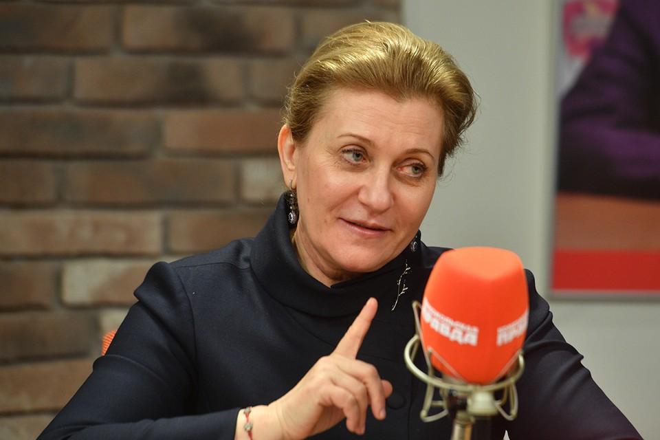 Руководитель Федеральной службы по надзору в сфере защиты прав потребителей и благополучия человека Анна Попова