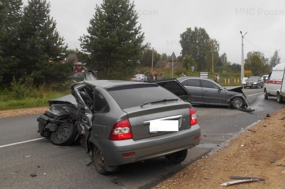 Снимок с места аварии.