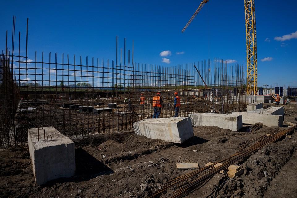 Новая школа на Зеленина в Зареченском микрорайоне Орла готова на 6%