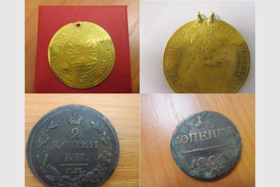 Старинные монеты в Ростов привезли рейсами из Баку и Анталии. Фото: пресс-служба Южного таможенного управления