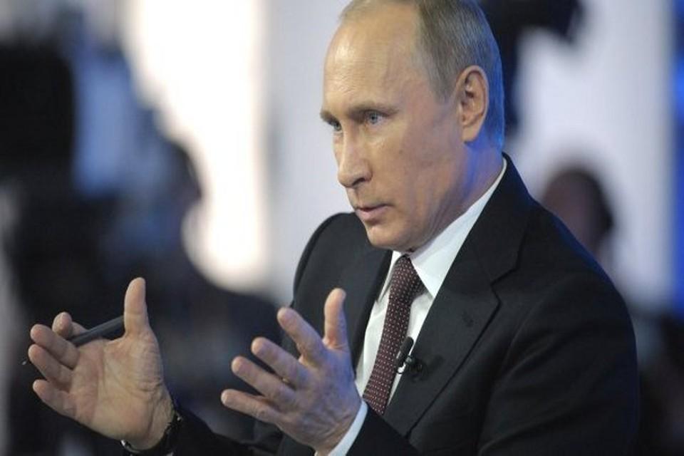 Президенту России Владимиру Путину задали на «Прямой линии» вопрос про антисанкции